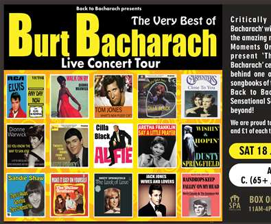 Back To Bacharach at Spa Pavilion Theatre