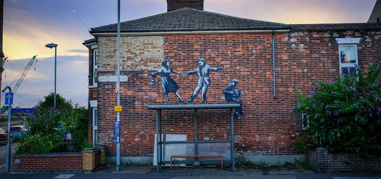 Banksy - Dancing at the bus stop - (c) Adam Barnes