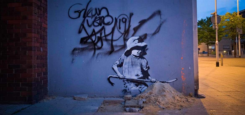 Banksy - Child Digging - (c) Adam Barnes