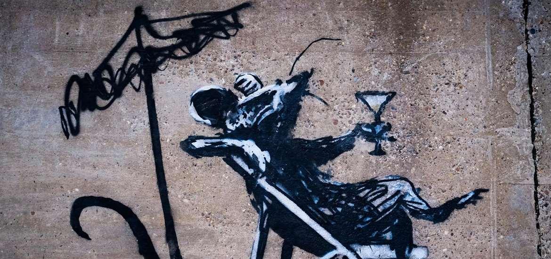 Banksy - Rat with cocktail - (c) Adam Barnes
