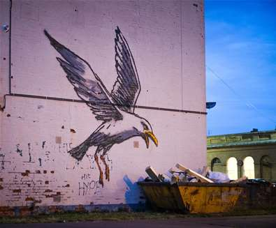 Banksy - gull and chips - (c) Adam Barnes