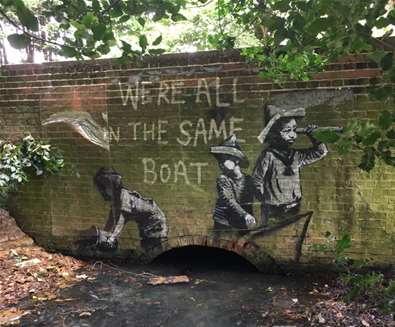 Banksy - Were all in the same boat - (c) Rosemarie Pike