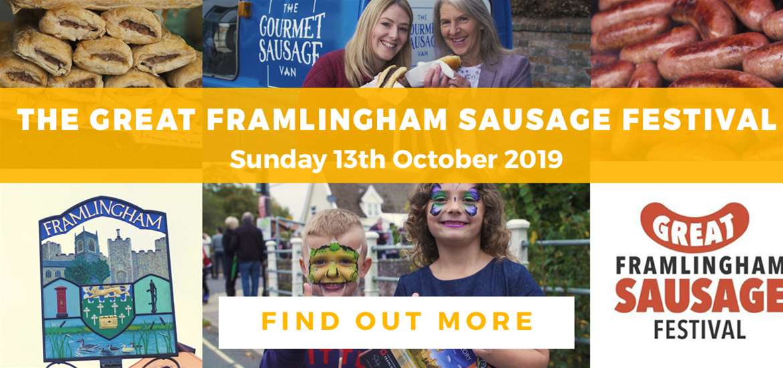 Banner Advertisement Sausage Festival 13 October TTDE