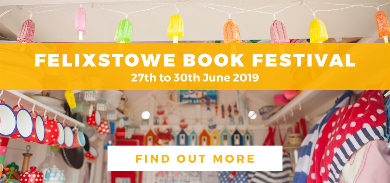 Banner Advertisement Felixstowe Book Festival May 2019