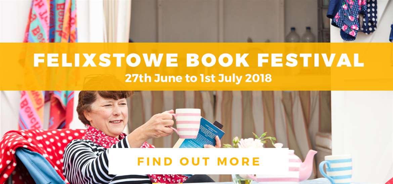 Banner Ad TTDE Felixstowe Book Festival Jan Huts