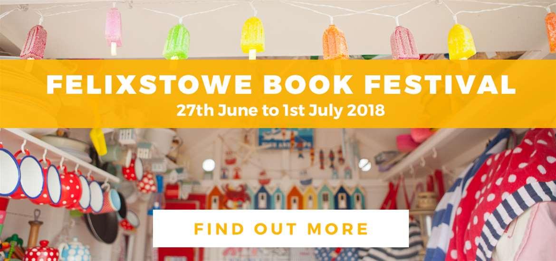 Banner Ad TTDEM Felixstowe Book Festival Beach Hut