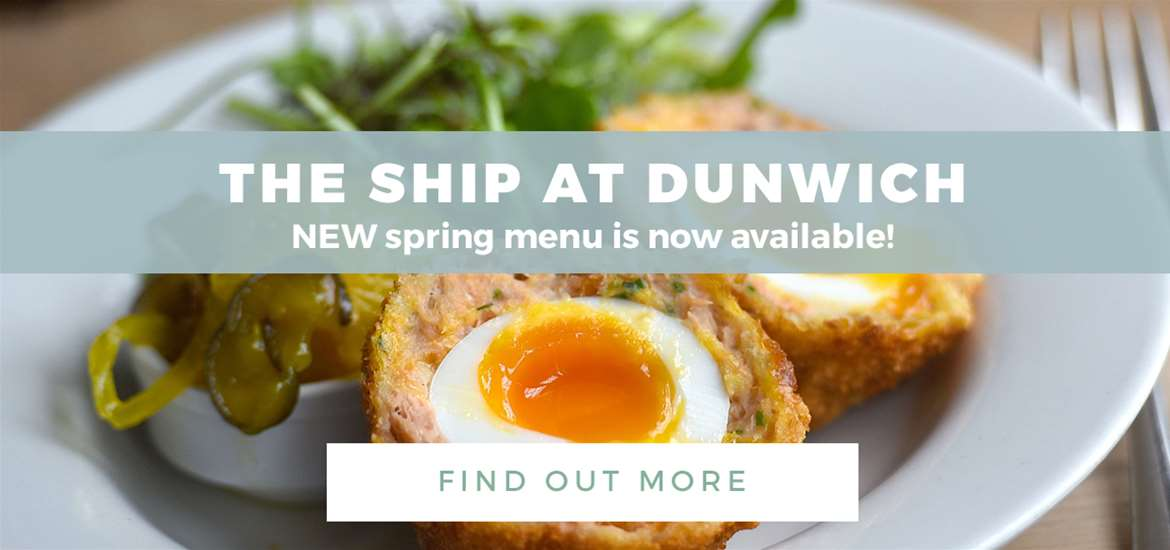 Banner Ad The Ship at Dunwich FD 1 to 31 May 2018