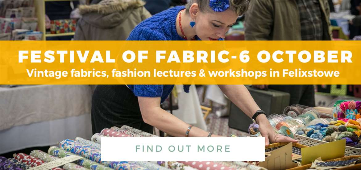 Banner Advertisement Festival of Fabric 3 Sept to 6 Oct 2018