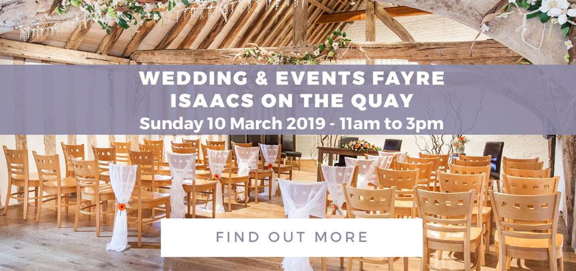 Banner Advertisement Isaacs On the Quay Wedding Fayre March 2019