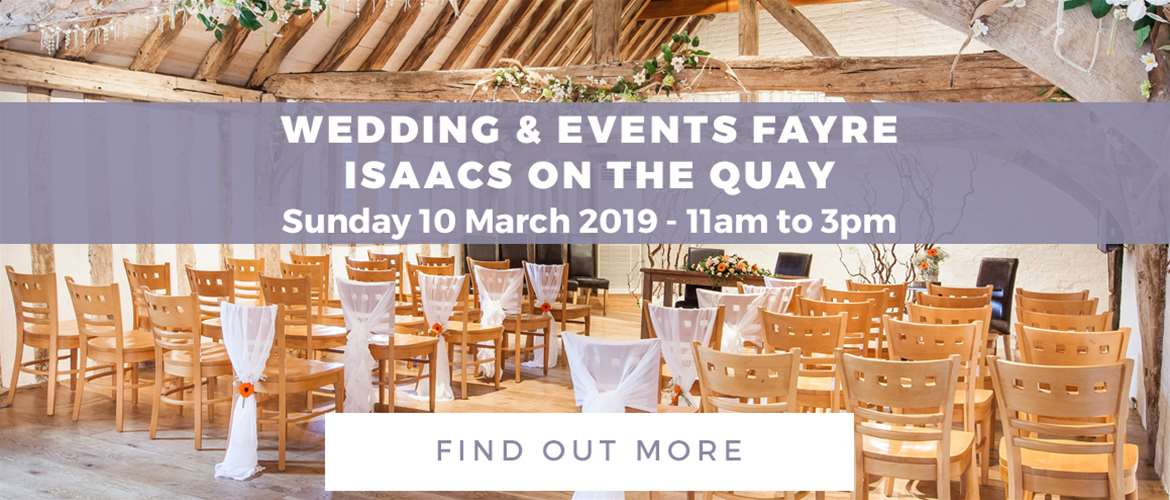 Banner Advertisement Isaacs on the Quay Weddings March 2019