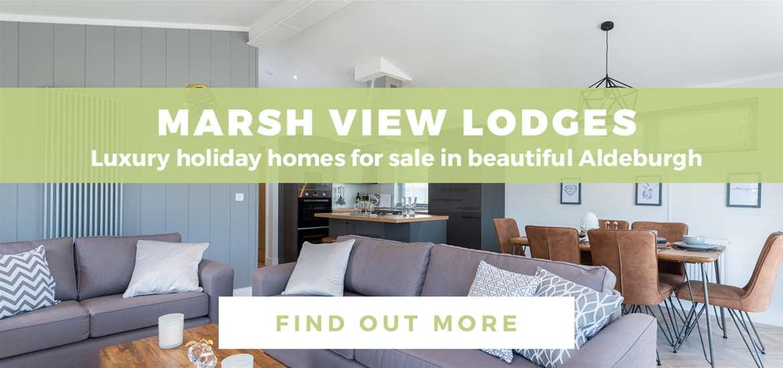 Banner Advertisement Marsh View Lodges Aldeburgh October 2020 TVG