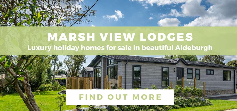 Banner Advertisement Marsh View Lodges Aldeburgh ATG October 2020