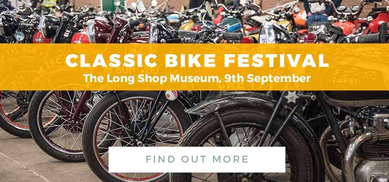 Banner Advertisement TG Leiston Classic Bike Festival 9 Sept 2018