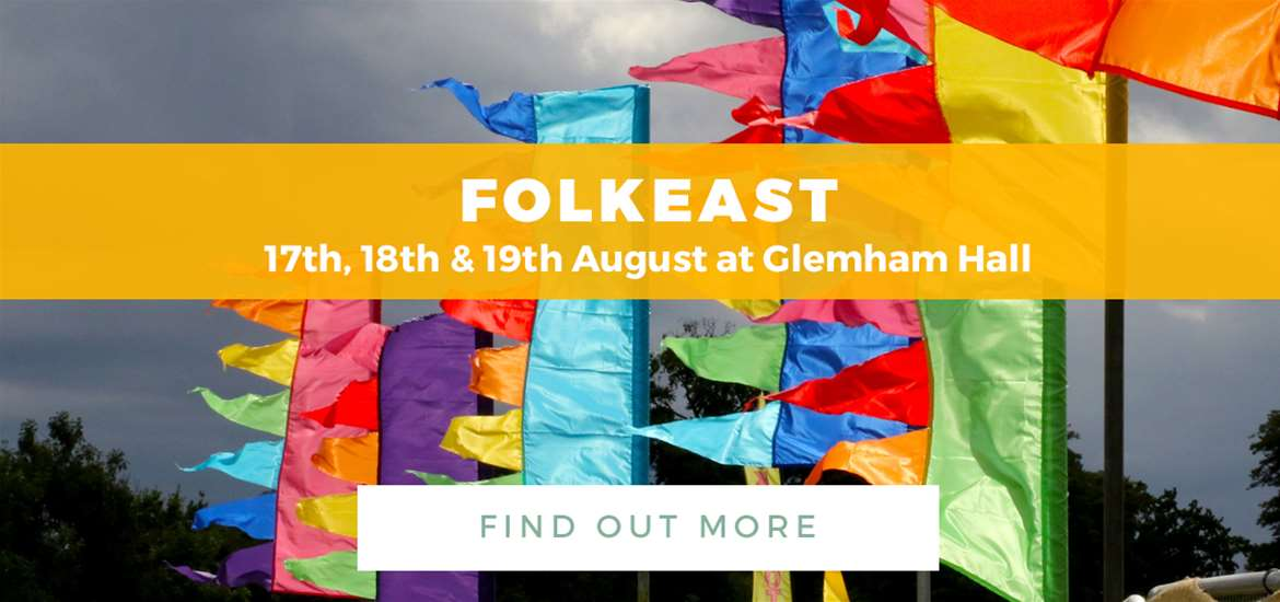 Banner Advertisement TTD FolkEast 3 July to 19 August 2018
