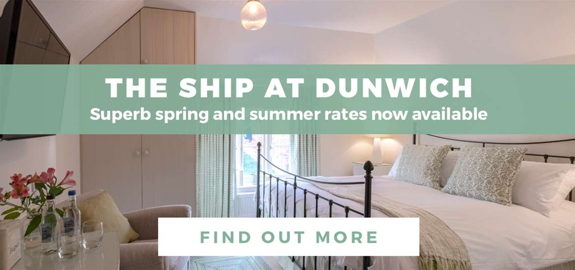 Banner Advertisement The Ship at Dunwich April 2019 WTS
