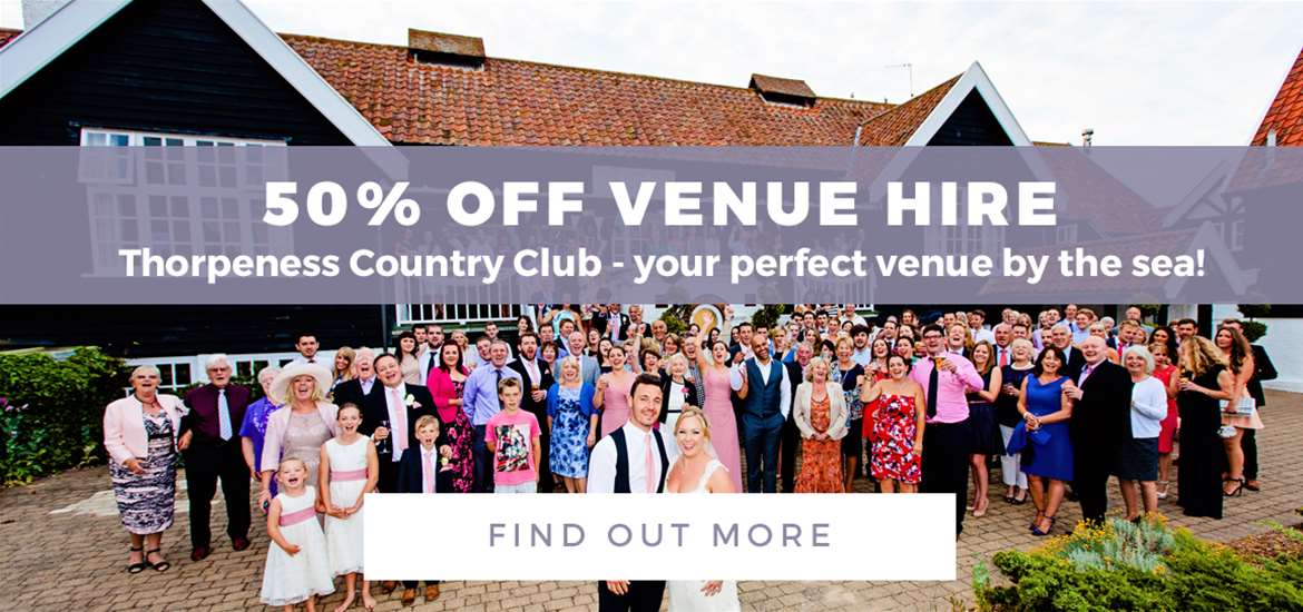 Banner Advertisement Weddings Thorpeness CC August 2018