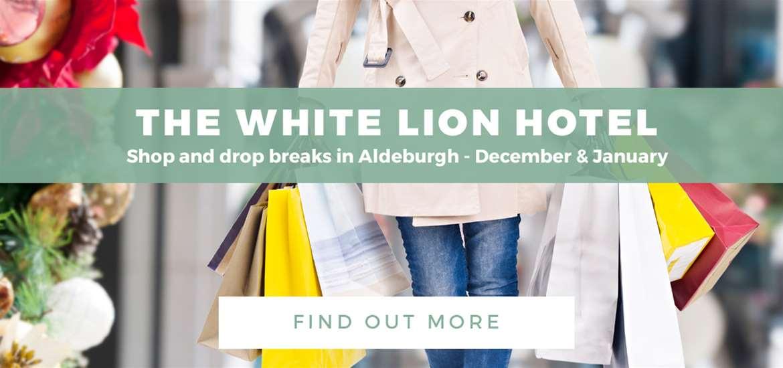 Banner Advertisement White Lion Shop and Drop ATG 4 Dec to 1 Jan