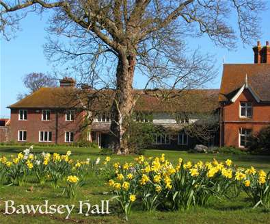 WTS - Bawdsey Hall - Exterior with daffodils
