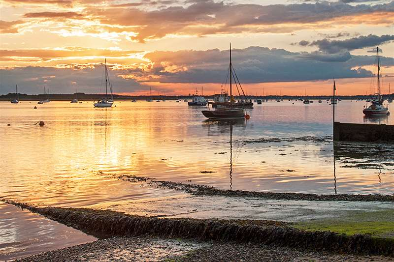Sunset from Bawdsey Quay in Suffolk