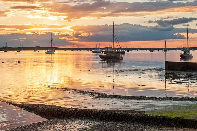 Towns & Villages - Bawdsey - quay at sunset