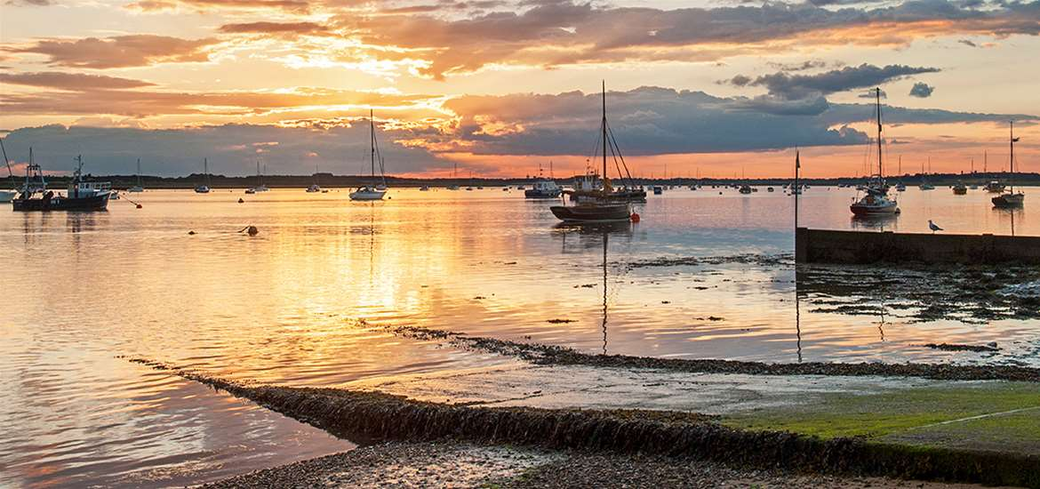Towns and Villages - Bawdsey at Sunset - Gill Moon Photography