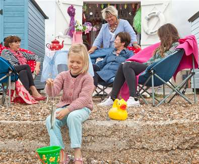 Plan your Half Term - Family at Beach hut - Emily Fae Photography