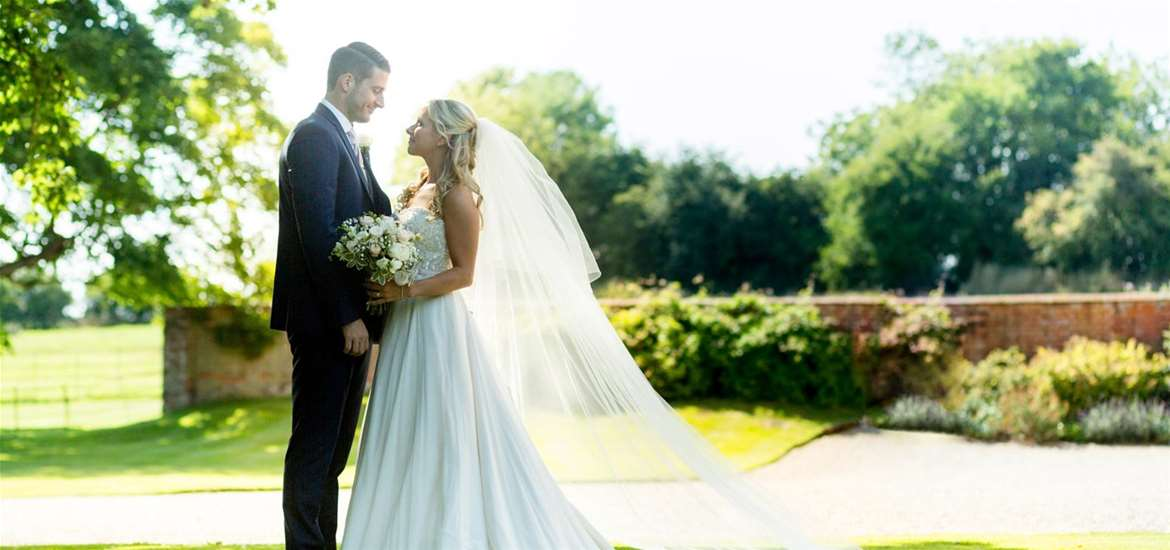 Weddings - Bruisyard Hall & Barn - Couple