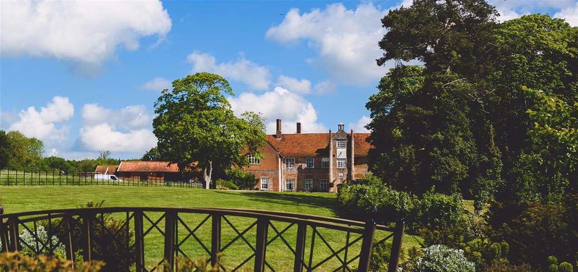 Weddings - Bruisyard Hall & Barn - View from garden