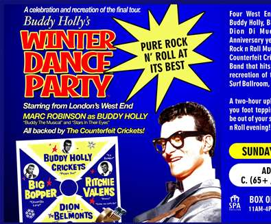 Buddy Holly's Winter Dance Party at Spa Pavilion - Felixstowe
