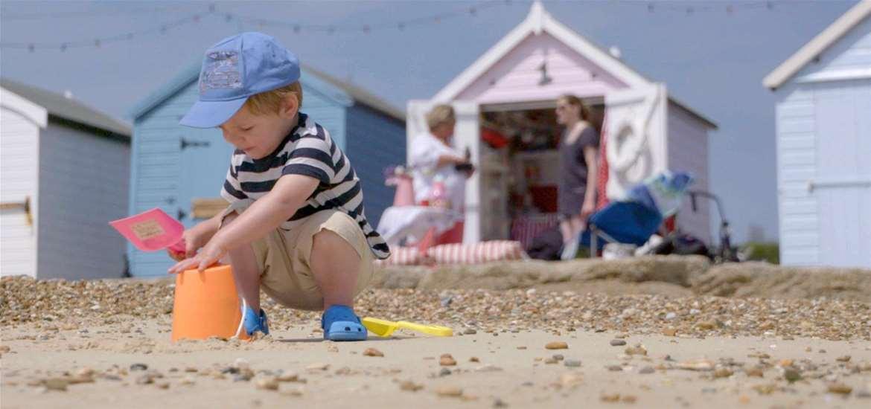 TTDA - Felixstowe Beach - building a sandcastle