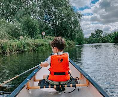 Canoeing on the River Waveney - (c) R Amer