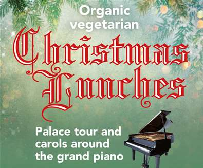 Christmas Lunches(organic and vegetarian) at The Maharishi Peace Palace