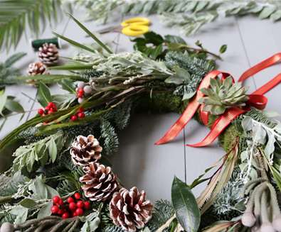 Create Luxury Wreaths in the Jungle - at Urban Jungle