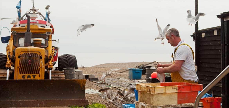 Fishermen on Aldeburgh Beach