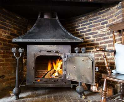 Cosy fire at The Cross Keys Aldeburgh