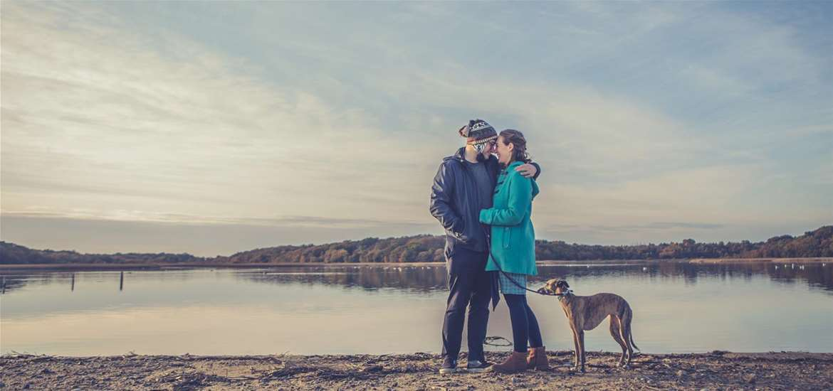 TTDA - Covehithe Beach - couple with dog