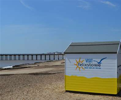 Felixstowe - Beach Hut - Tourist Information Point