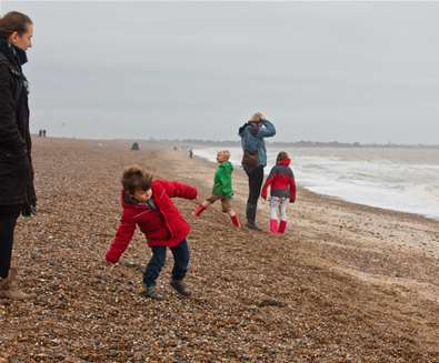 Dunwich - Family on the beach - (c) Emily Fae Photography