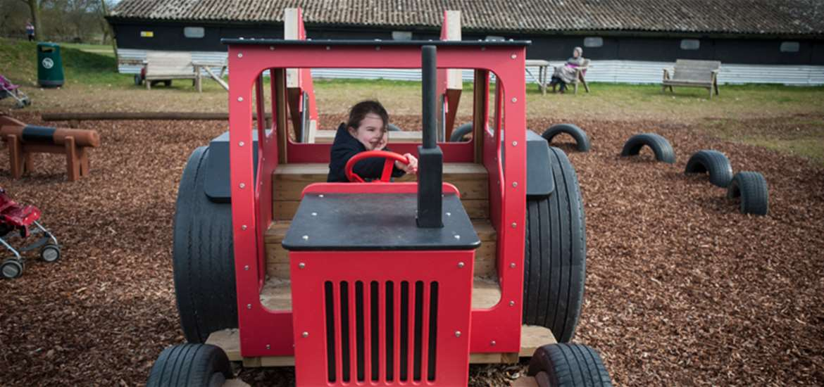 Easton Farm Park Big Red Tractor Fun