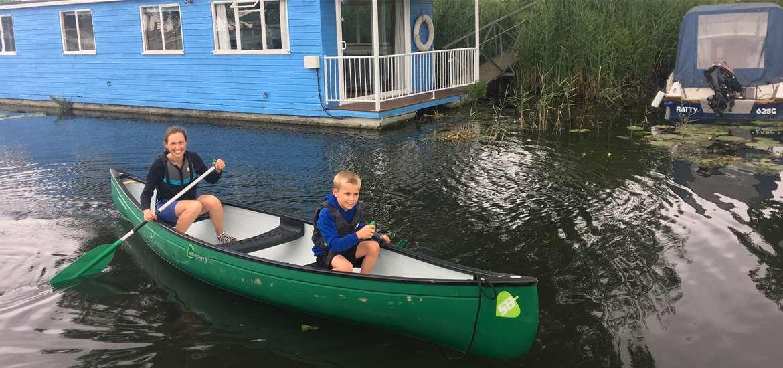 TTDA Hippersons Boatyard Fun on a canoe