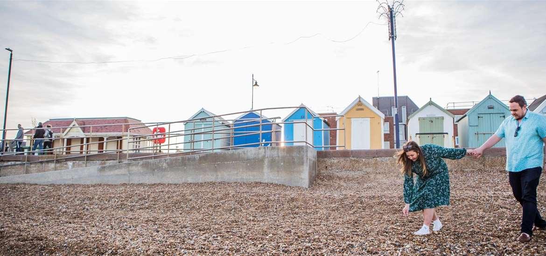 Towns & Villages - Felixstowe - Couple on beach (c) Emily Fae Photography