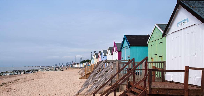 Felixstowe Beach Huts - (c) Gill Moon