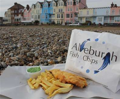 FD - Aldeburgh Fish and Chips - Chips on Beach
