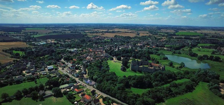 Framlingham near the Suffolk coast