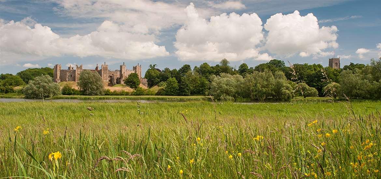 Framlingham Castle near the Suffolk Coast