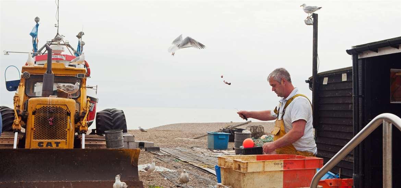 Fresh Fish on sale on Aldeburgh Beach - Suffolk Coast