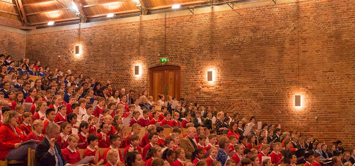 Articles - Big Sing 2016 - Children at Snape Maltings Concert Hall