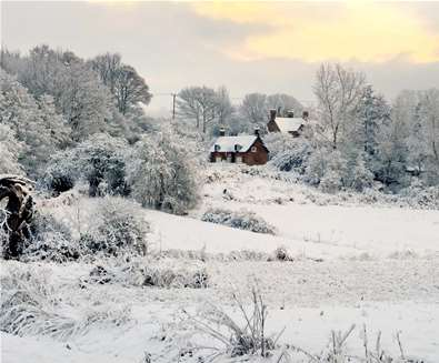 Ramsholt in snow - (c) Gill Moon Photography