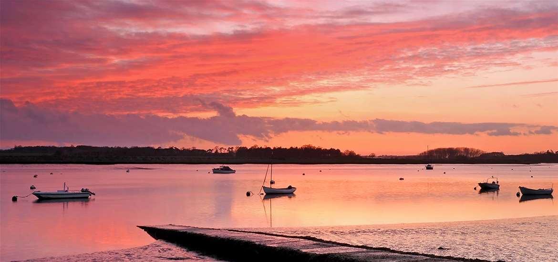 Sunset on the River Deben Suffolk Coast