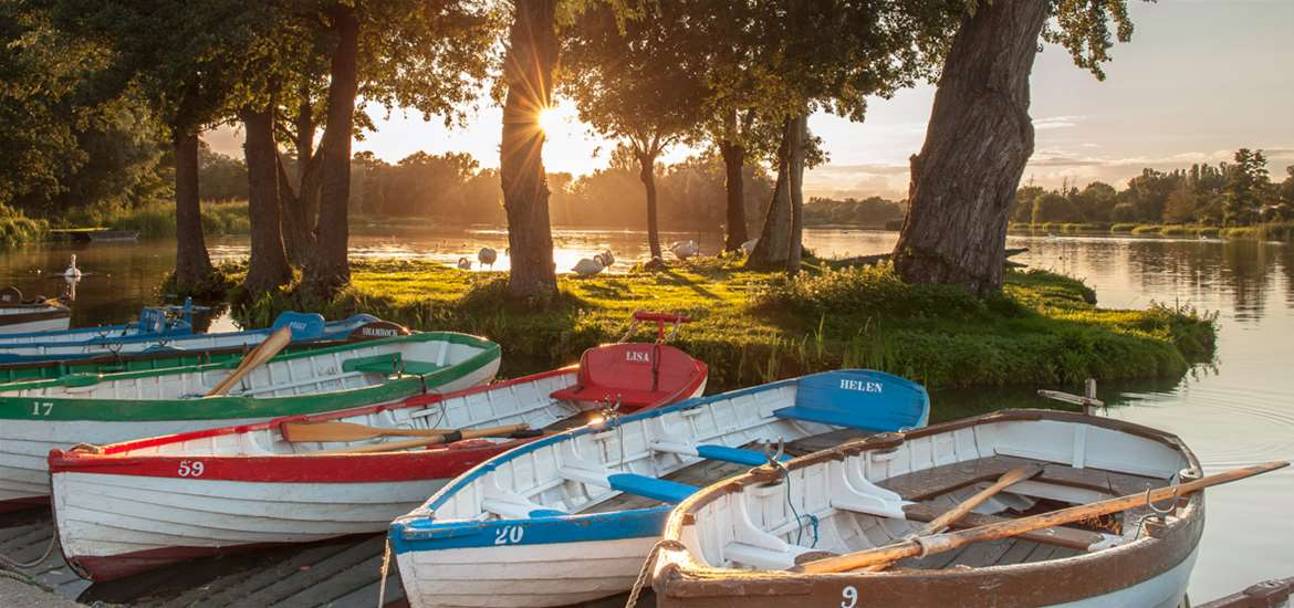 Thorpeness Meare on the Suffolk Coast by Gill Moon
